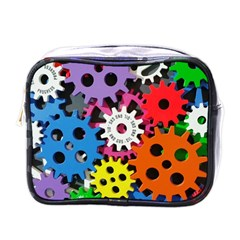 Colorful Toothed Wheels Mini Toiletries Bags