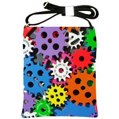 Colorful Toothed Wheels Shoulder Sling Bags