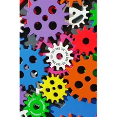 Colorful Toothed Wheels 5.5  x 8.5  Notebooks
