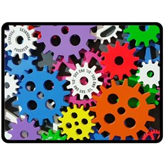 Colorful Toothed Wheels Fleece Blanket (Large)