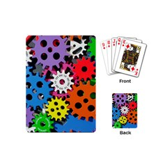 Colorful Toothed Wheels Playing Cards (Mini)