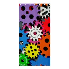 Colorful Toothed Wheels Shower Curtain 36  x 72  (Stall)