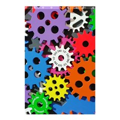 Colorful Toothed Wheels Shower Curtain 48  x 72  (Small)