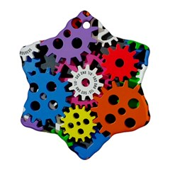 Colorful Toothed Wheels Ornament (Snowflake)