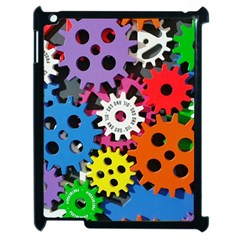 Colorful Toothed Wheels Apple iPad 2 Case (Black)