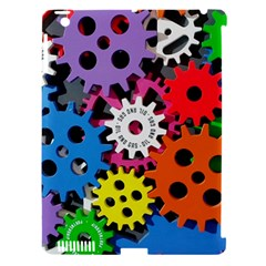 Colorful Toothed Wheels Apple iPad 3/4 Hardshell Case (Compatible with Smart Cover)