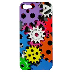 Colorful Toothed Wheels Apple iPhone 5 Hardshell Case