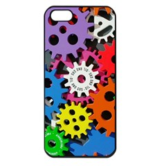 Colorful Toothed Wheels Apple iPhone 5 Seamless Case (Black)