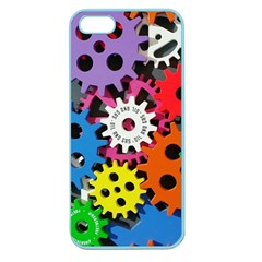 Colorful Toothed Wheels Apple Seamless Iphone 5 Case (color)