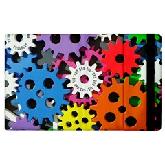 Colorful Toothed Wheels Apple iPad 2 Flip Case