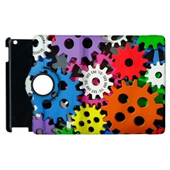 Colorful Toothed Wheels Apple iPad 2 Flip 360 Case