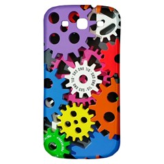 Colorful Toothed Wheels Samsung Galaxy S3 S III Classic Hardshell Back Case