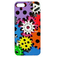 Colorful Toothed Wheels Apple iPhone 5 Hardshell Case with Stand