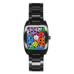 Colorful Toothed Wheels Stainless Steel Barrel Watch