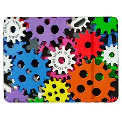 Colorful Toothed Wheels Samsung Galaxy Tab 7  P1000 Flip Case