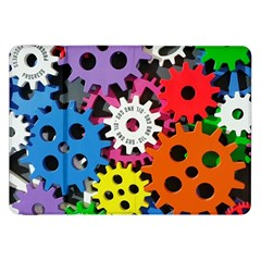 Colorful Toothed Wheels Samsung Galaxy Tab 8.9  P7300 Flip Case