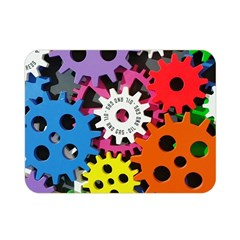 Colorful Toothed Wheels Double Sided Flano Blanket (Mini)