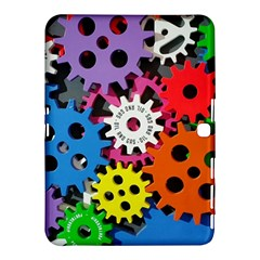Colorful Toothed Wheels Samsung Galaxy Tab 4 (10.1 ) Hardshell Case