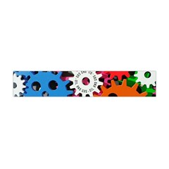 Colorful Toothed Wheels Flano Scarf (Mini)