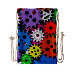 Colorful Toothed Wheels Drawstring Bag (Small)