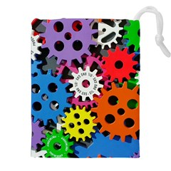 Colorful Toothed Wheels Drawstring Pouches (XXL)