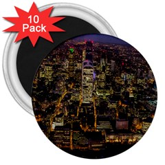City Glass Architecture Windows 3  Magnets (10 pack)