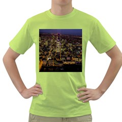 City Glass Architecture Windows Green T-Shirt