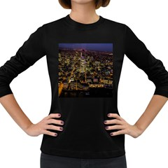 City Glass Architecture Windows Women s Long Sleeve Dark T-Shirts