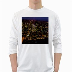 City Glass Architecture Windows White Long Sleeve T-Shirts
