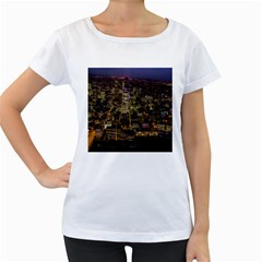 City Glass Architecture Windows Women s Loose-Fit T-Shirt (White)