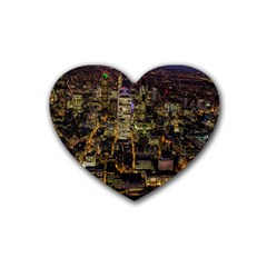 City Glass Architecture Windows Heart Coaster (4 pack)