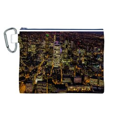 City Glass Architecture Windows Canvas Cosmetic Bag (L)