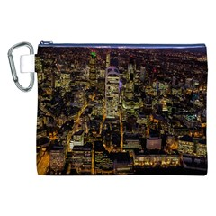 City Glass Architecture Windows Canvas Cosmetic Bag (XXL)