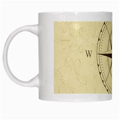 Compass Vintage South West East White Mugs