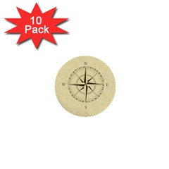 Compass Vintage South West East 1  Mini Buttons (10 pack)