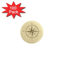 Compass Vintage South West East 1  Mini Magnets (100 pack)