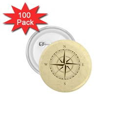 Compass Vintage South West East 1.75  Buttons (100 pack)