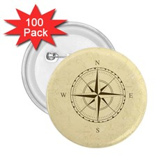 Compass Vintage South West East 2.25  Buttons (100 pack)
