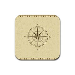 Compass Vintage South West East Rubber Square Coaster (4 pack)