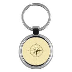 Compass Vintage South West East Key Chains (Round)