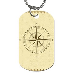 Compass Vintage South West East Dog Tag (Two Sides)