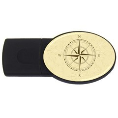 Compass Vintage South West East USB Flash Drive Oval (1 GB)