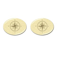 Compass Vintage South West East Cufflinks (Oval)