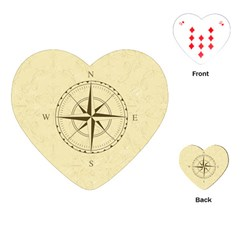 Compass Vintage South West East Playing Cards (Heart)