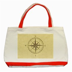 Compass Vintage South West East Classic Tote Bag (Red)