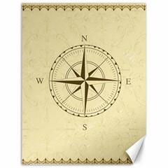 Compass Vintage South West East Canvas 12  x 16