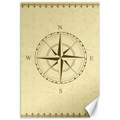 Compass Vintage South West East Canvas 12  x 18