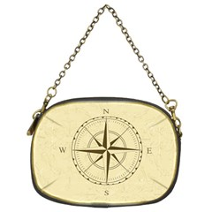 Compass Vintage South West East Chain Purses (Two Sides)
