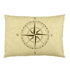 Compass Vintage South West East Pillow Case