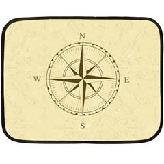 Compass Vintage South West East Fleece Blanket (Mini)